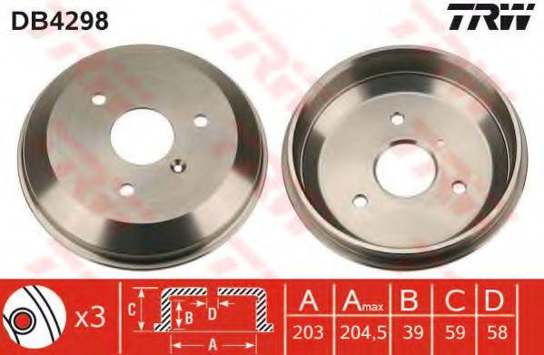 Тормозной барабан TRW арт. DB4298