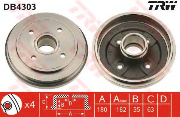 Тормозной барабан TRW арт. DB4303