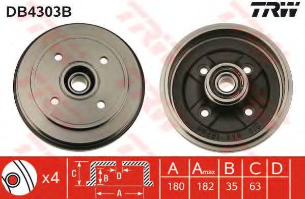 Тормозной барабан TRW арт. DB4303B