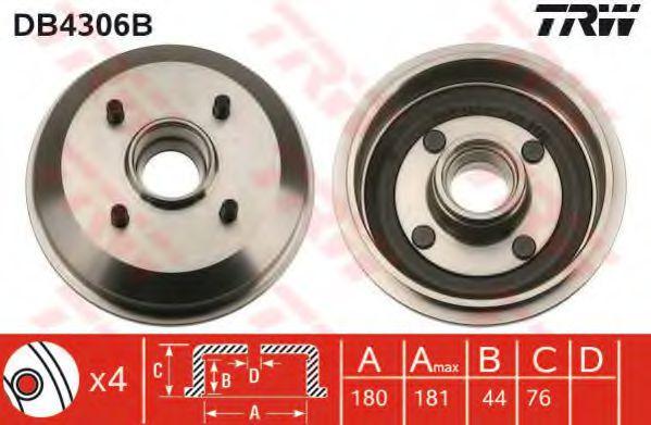 Тормозной барабан TRW арт. DB4306B