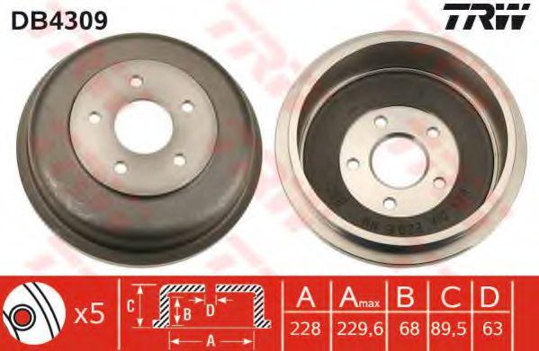 Тормозной барабан TRW арт. DB4309