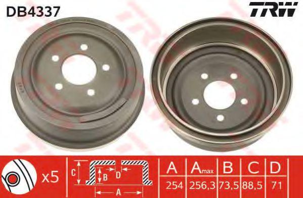 Тормозной барабан TRW арт. DB4337