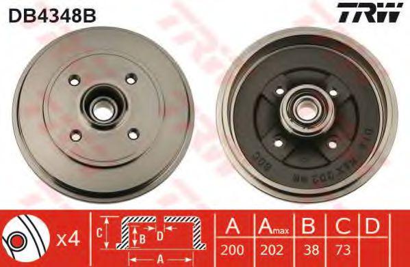 Тормозной барабан TRW арт. DB4348B