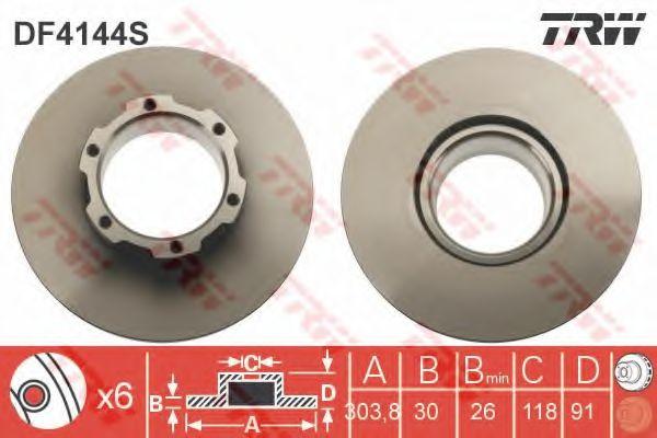 Тормозной диск TRW арт.