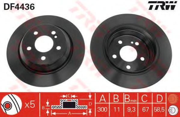 Тормозной диск TRW арт. DF4436