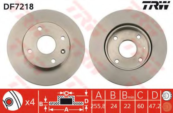 Тормозной диск Лачетти/Эванда передний (комплект 2 шт) TRW TRW арт.