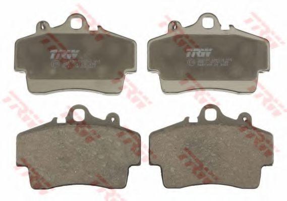 Комплект тормозных колодок, дисковый тормоз TRW арт. GDB1394