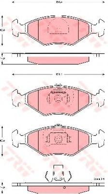Комплект тормозных колодок, дисковый тормоз TRW арт. GDB1533