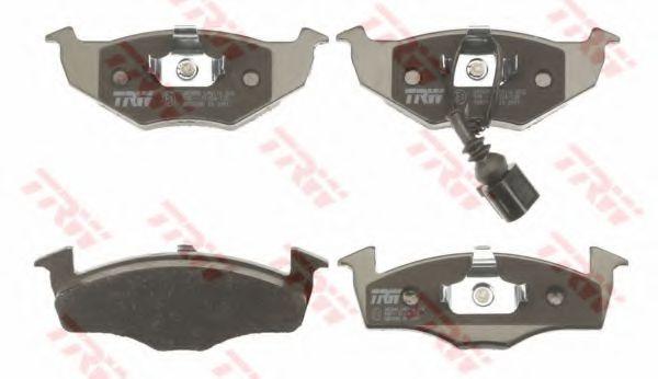 Комплект тормозных колодок, дисковый тормоз TRW арт. GDB1586