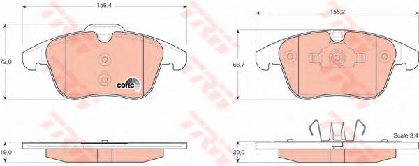 Комплект тормозных колодок, дисковый тормоз TRW арт. GDB1683