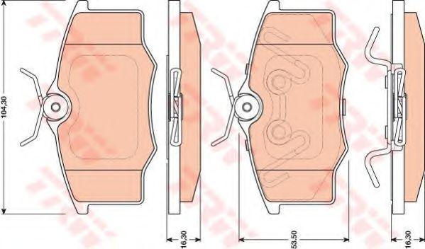 Комплект тормозных колодок, дисковый тормоз TRW арт. GDB1759