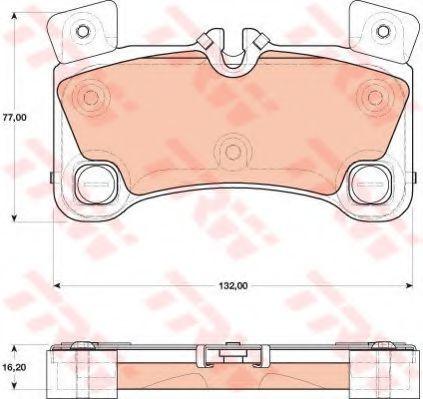 Комплект тормозных колодок, дисковый тормоз TRW арт. GDB1775
