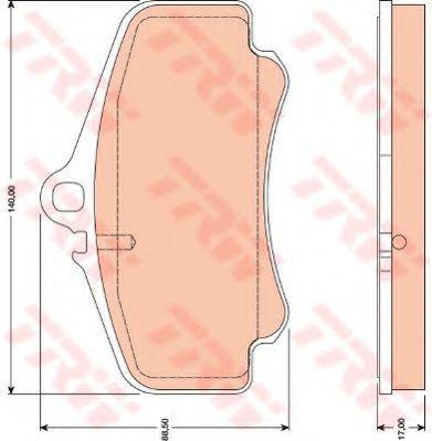 Комплект тормозных колодок, дисковый тормоз TRW арт. GDB1777