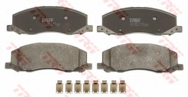 Комплект тормозных колодок, дисковый тормоз TRW арт. GDB1781