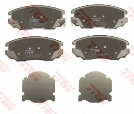 Комплект тормозных колодок, дисковый тормоз TRW арт. GDB1782