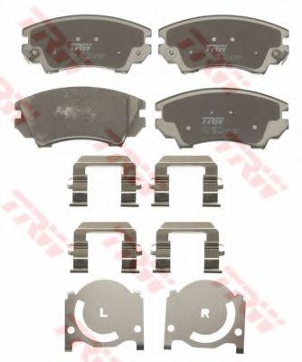 Комплект тормозных колодок, дисковый тормоз TRW арт. GDB1783