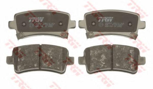 Комплект тормозных колодок, дисковый тормоз TRW арт. GDB1784