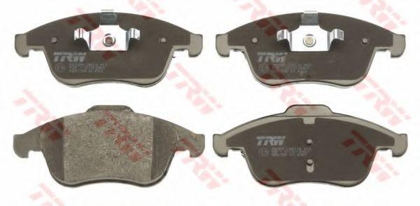 Комплект тормозных колодок, дисковый тормоз TRW арт. GDB1788