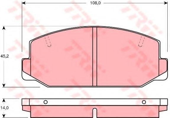 Комплект тормозных колодок, дисковый тормоз TRW арт. GDB179