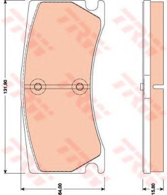 Комплект тормозных колодок, дисковый тормоз TRW арт. GDB1801