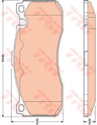 Комплект тормозных колодок, дисковый тормоз TRW арт. GDB1802