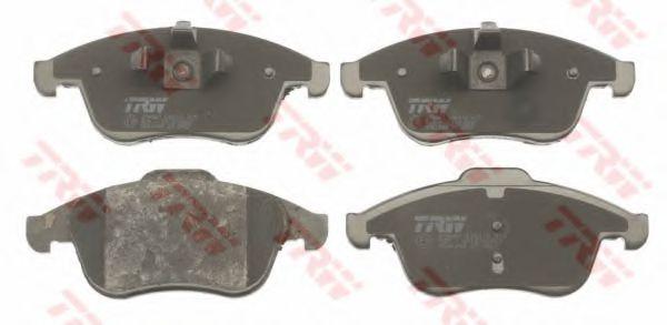 Комплект тормозных колодок, дисковый тормоз TRW арт. GDB1808