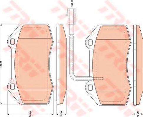 Комплект тормозных колодок, дисковый тормоз TRW арт. GDB1812