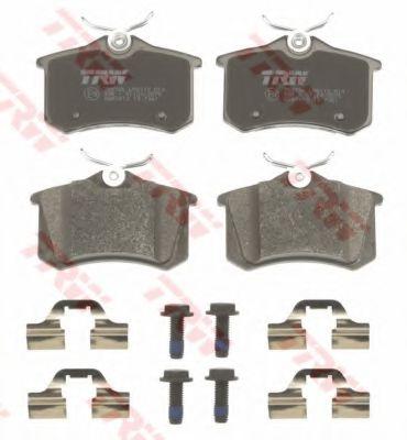Комплект тормозных колодок, дисковый тормоз TRW арт. GDB1813