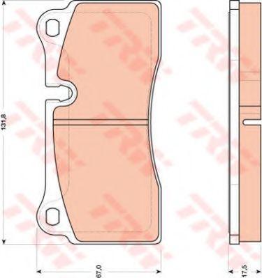 Комплект тормозных колодок, дисковый тормоз TRW арт. GDB1816