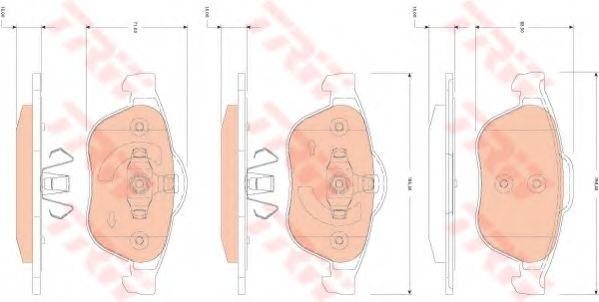 Комплект тормозных колодок, дисковый тормоз TRW арт. GDB1823