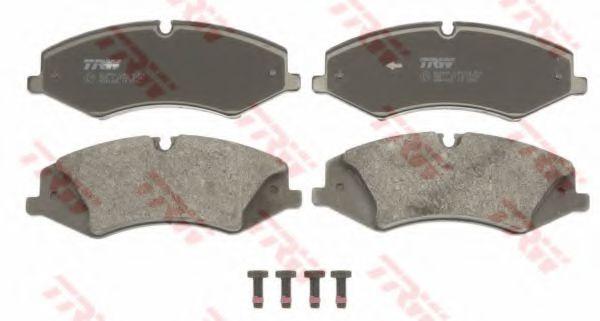 Комплект тормозных колодок, дисковый тормоз TRW арт. GDB1825