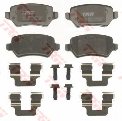 Комплект тормозных колодок, дисковый тормоз TRW арт. GDB1831