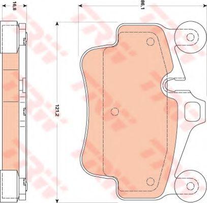 Комплект тормозных колодок, дисковый тормоз TRW арт. GDB1836