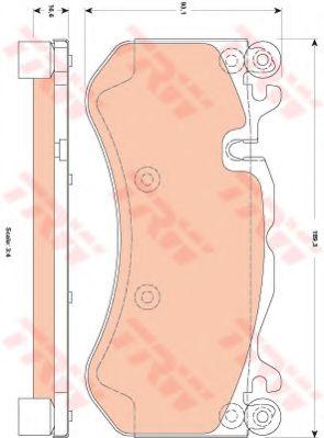 Комплект тормозных колодок, дисковый тормоз TRW арт. GDB1837