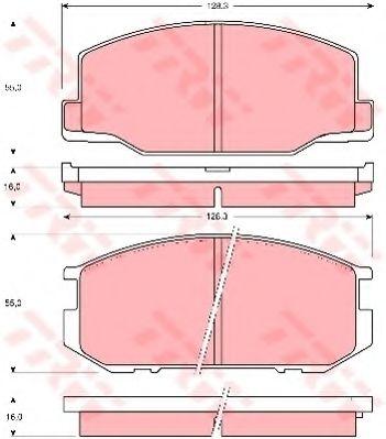 Комплект тормозных колодок, дисковый тормоз TRW арт. GDB216