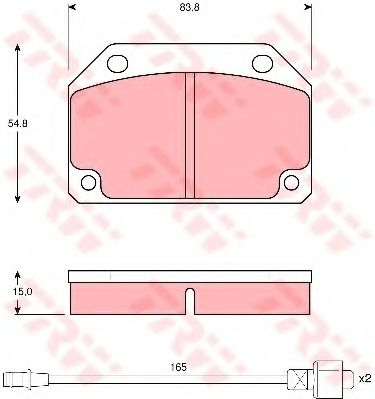 Комплект тормозных колодок, дисковый тормоз TRW арт. GDB241