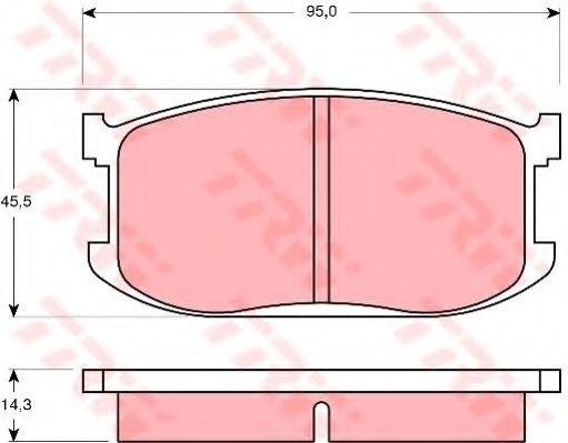 Комплект тормозных колодок, дисковый тормоз TRW арт. GDB252