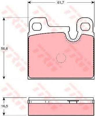 Комплект тормозных колодок, дисковый тормоз TRW арт. GDB258