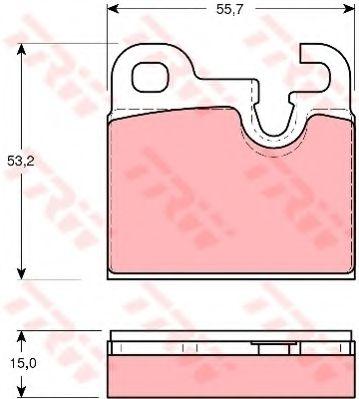 Комплект тормозных колодок, дисковый тормоз TRW арт. GDB259