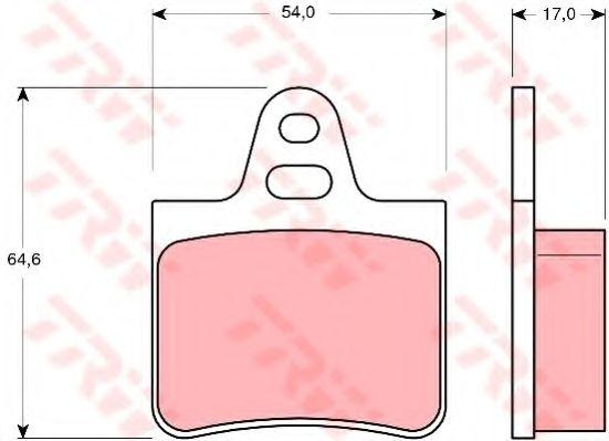 Комплект тормозных колодок, дисковый тормоз TRW арт. GDB263