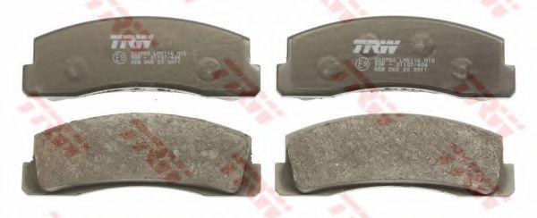 Комплект тормозных колодок, дисковый тормоз TRW арт. GDB265