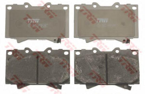 Комплект тормозных колодок, дисковый тормоз TRW арт. GDB3197