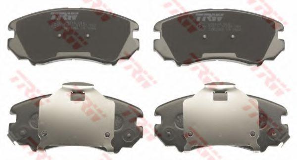 Комплект тормозных колодок, дисковый тормоз TRW арт. GDB3352