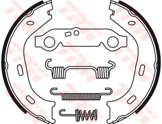 Комплект тормозных колодок, стояночная тормозная система TRW арт.