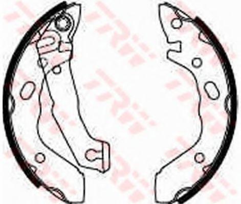 Комплект тормозных колодок TRW арт.