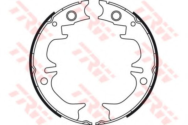 Колодки гальмівні барабанні TRW GS8714