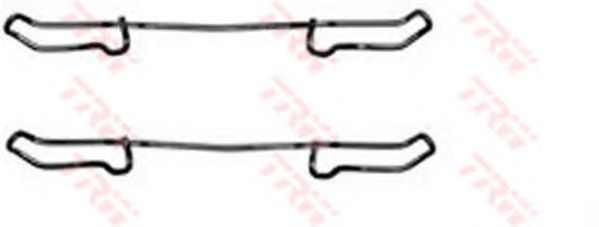 Комплектующие, колодки дискового тормоза TRW арт. PFK241