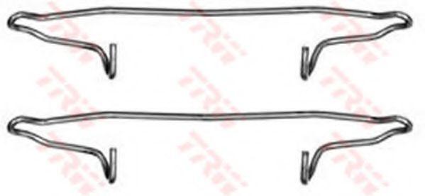 Комплектующие, колодки дискового тормоза TRW арт. PFK300
