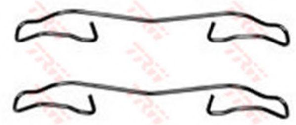Комплектующие, колодки дискового тормоза TRW арт.