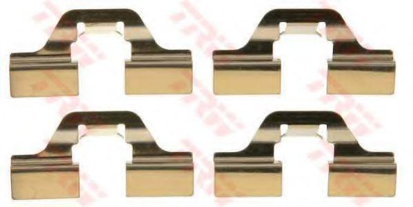 Комплектующие, колодки дискового тормоза TRW арт. PFK405